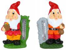 Figura ogrodowa krasnal 19,5x10,5x30,5cm ceramika