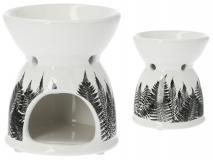 Kominek ceramiczny paproć  9x9x10,5cm