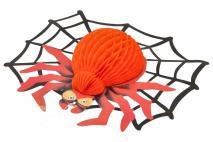 Dekoracja Halloween pająk 44cm