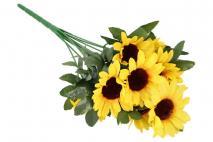 Bukiet kwiatów sztucznych - słonecznik