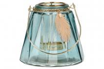 Ozd.boż. Świecznik szklany 12x11cm