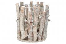 Ozd.boż. Świecznik z gałązek 14cm drewno