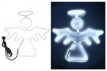 Ozd.boż. Anioł z LED 50x55cm zimne światło
