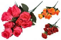Bukiet kwiatów sztucznych 38cm 9gł.