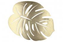 Mata stołowa liść złoty 32x41cm