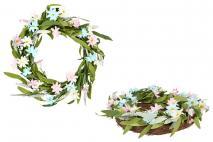 Wieniec dekoracyjny z kwiatami 40cm