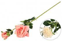 Bukiet kwiatów sztucznych róża 2gł. 67cm