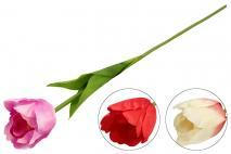 Kwiat sztuczny tulipan, mix kolorów 60cm
