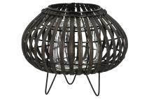 Lampion czarny 11x18x21cm