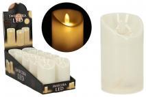 Świeca LED 7x12,5cm, ruchomy płomień