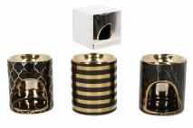 Kominek ceramiczny 11,5x10,5x9,5cm mix 3 wzorów