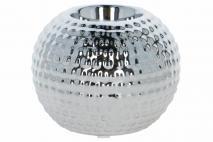 Świecznik ceramiczny 10xh8cm srebrny