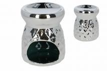 Kominek ceramiczny 8x8xh10cm, srebrny