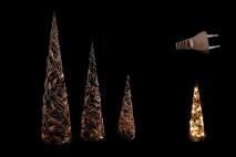 Ozd.boż. Choinka świecąca kpl 3szt 40/60/80cm