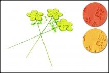Kpl Kwiat na piku 3szt, 37cm
