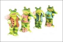 Figurka dekoracyjna- żaba 6,5x6,5x13,5cm