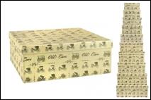 Kpl Pudełko kartonowe stare auta 10szt 7x10x16cm do 12,5x24,5x33cm