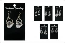 Biżuteria - Kolczyki 9x5cm metal