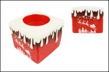 Ozd.boż. Świecznik ceramiczny 7x7x6,5cm