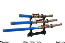 Kpl Replika broni  katany 3szt podst. 53cm, 73cm, 96cm