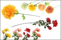 Kwiat sztuczny róża lub chryzantema 70cm