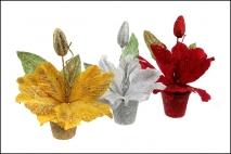 Ozd.boż. Kwiat sztuczny w doniczce 8x27cm